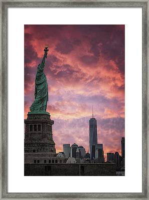 NYC Framed Print by Martin Newman