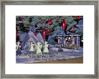 O Holy Night Quote Framed Print by JAMART Photography