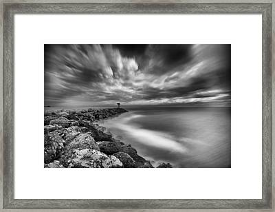 Oceanside Harbor Jetty 3 Framed Print by Larry Marshall