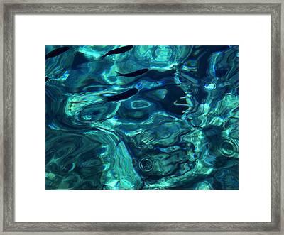 Framed Print featuring the photograph Ocean Water Santorini Greece  by Colette V Hera  Guggenheim