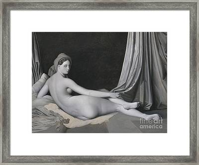 Odalisque In Grisaille Framed Print