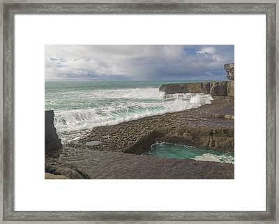 35 Of 35 The Worm Hole Water Behavior Sequence Framed Print by Betsy Knapp