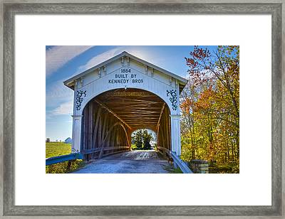 Offutt's Ford Covered Bridge Framed Print by Jack R Perry