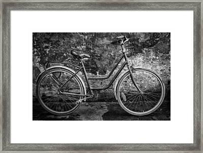 Old Bike Framed Print by Hans Wolfgang Muller Leg