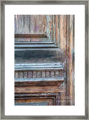 Old Door Fragment Framed Print by Elena Elisseeva