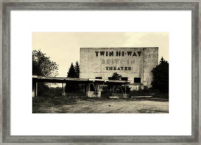 Old Drive In Theatre Framed Print