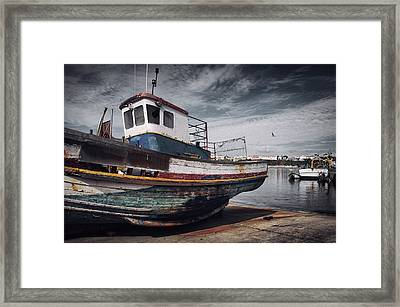 Old Fishing Boat Framed Print by Carlos Caetano
