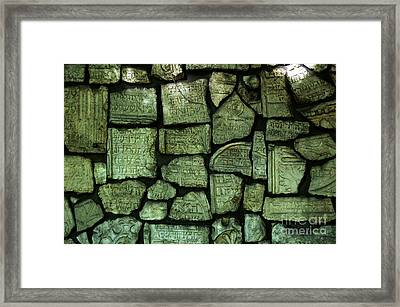 Old Jewish Cemetery Krakow Poland Framed Print by Wayne Higgs