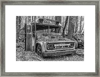 Old School Bus Framed Print