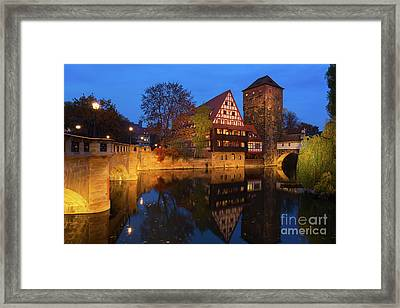 Nuremberg At Night Framed Print