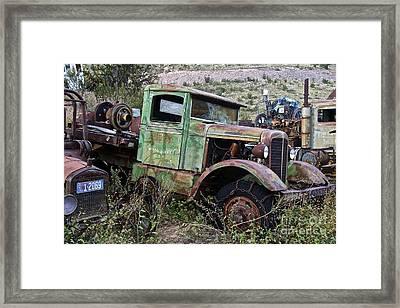 Old Truck Framed Print by Anthony Jones