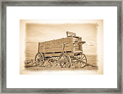 Old West Wagon  Framed Print by Steve McKinzie