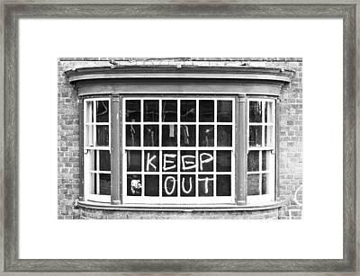 Old Window  Framed Print by Tom Gowanlock