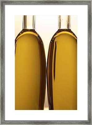 2 Olive Oil Bottles Framed Print