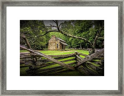 Oliver Cabin In Cade's Cove Framed Print