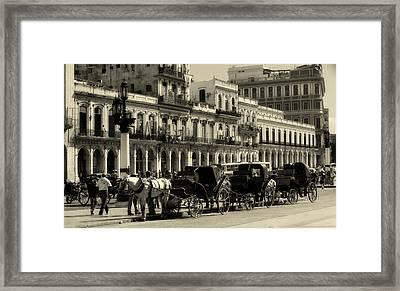 On The Prado Framed Print