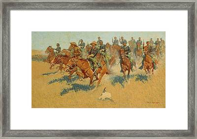 On The Southern Plains Framed Print by Frederic Remington
