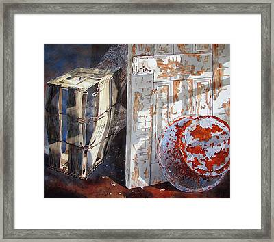 Once Framed Print by Tony Caviston