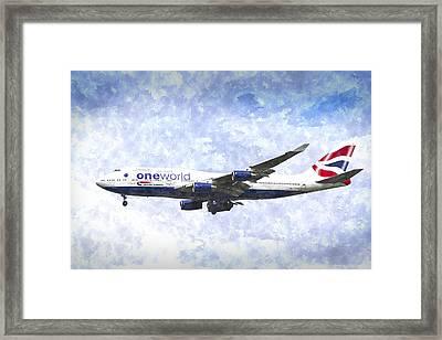 One World Boeing 747 Art Framed Print