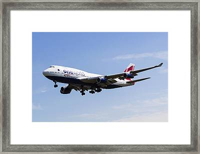 One World Boeing 747 Framed Print by David Pyatt