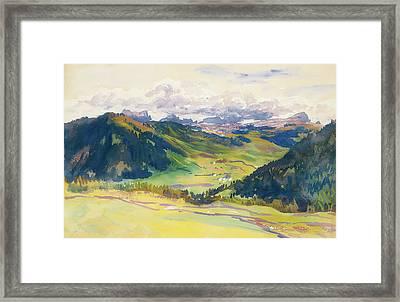 Open Valley - Dolomites Framed Print