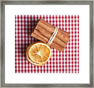 Orange And Cinnamon Framed Print