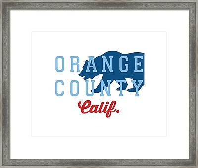 Orange County. Framed Print