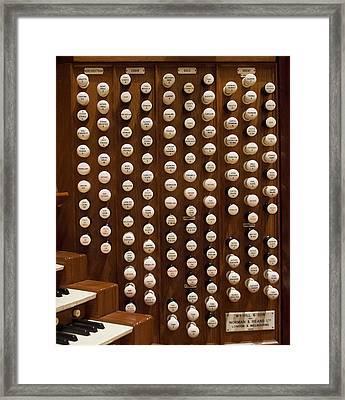 Organ Stops Framed Print