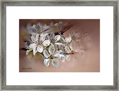 Framed Print featuring the painting Oriental Pear Blossom by Bonnie Willis