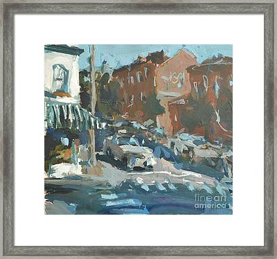 Framed Print featuring the painting Original Contemporary Urban Painting Featuring Richmond Virginia by Robert Joyner
