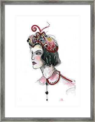 Original Watercolor Fashion Illustration Framed Print