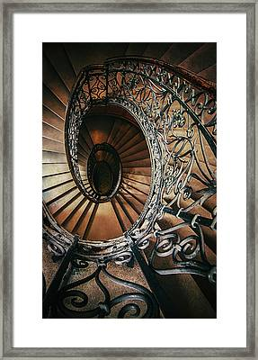 Framed Print featuring the photograph Ornamented Spiral Staircase by Jaroslaw Blaminsky