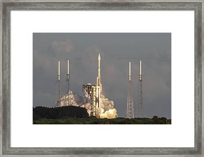 Osiris-rex Launch Framed Print by Timothy Cummiskey