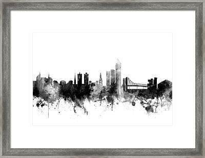 Oslo Norway Skyline Framed Print by Michael Tompsett