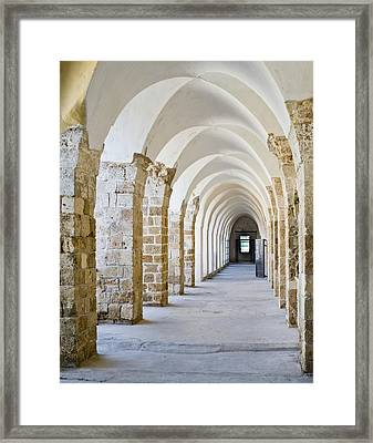 Ottoman-style Arched Corridor Framed Print by Noam Armonn