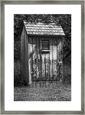 Outhouse Shack Framed Print by Susan Candelario
