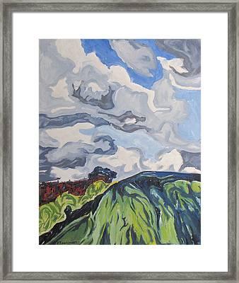 Over The Hill Framed Print