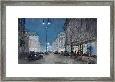 Oxford Circus Framed Print by Donald Maxwell