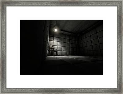Padded Cell And Empty Chair Framed Print by Allan Swart