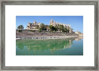 Palma Cathedral La Seu And Almudaina Framed Print