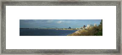 Panoramic View Of Mississippi River Framed Print by Panoramic Images