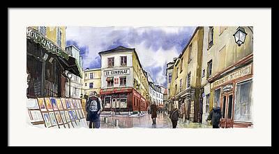 Montmartre Framed Prints