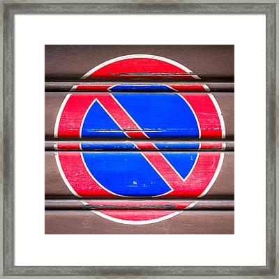 Parking Ban Framed Print by Germano Poli