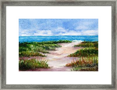 Path To The Beach Framed Print by Suzanne Krueger