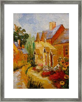 Framed Print featuring the painting Pathway Home by Marie Hamby