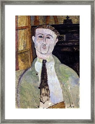 Paul Guillaume  Framed Print by Amedeo Modigliani