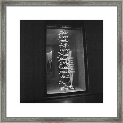 Peace Framed Print by Art Block Collections