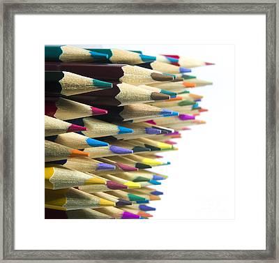 Pencils Framed Print by Bernard Jaubert