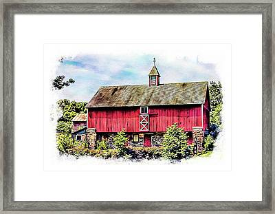 Pennsylvania Barn Framed Print