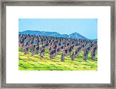 Pepperdine Flag Salute Framed Print by Julian Starks